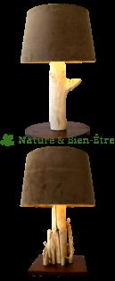 Nature et bien tre fabriquer une lampe en bois flott - Fabriquer un pied de lampe en bois flotte ...